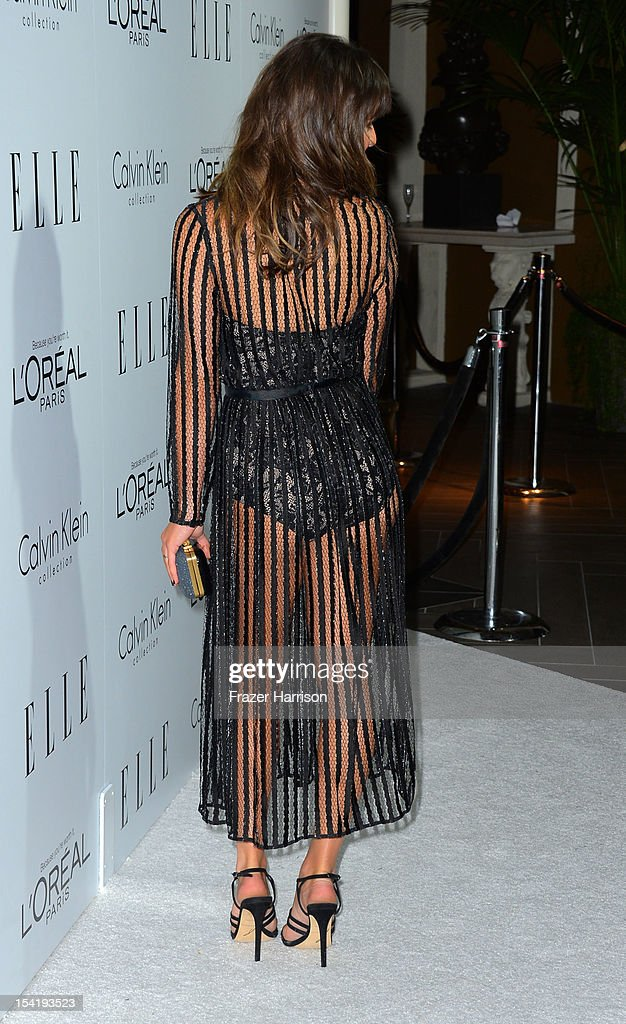 Actress Lea Michele arrives at ELLE's 19th Annual Women In Hollywood Celebration at the Four Seasons Hotel on October 15, 2012 in Beverly Hills, California.
