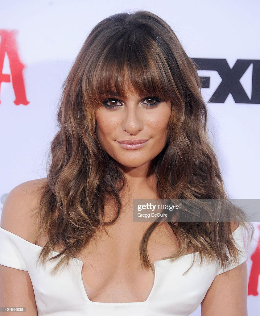 Actress Lea Michele arrives at FX's 'Sons Of Anarchy' premiere at TCL Chinese Theatre on September 6, 2014 in Hollywood, California.