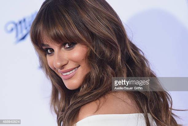 Actress Lea Michele arrives at FX's 'Sons Of Anarchy' premiere at TCL Chinese Theatre on September 6 2014 in Hollywood California