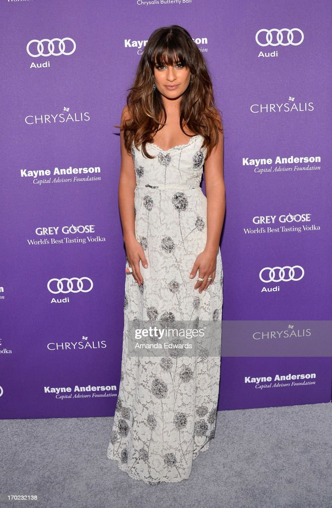 Actress Lea Michele arrives at the 12th Annual Chrysalis Butterfly Ball on June 8, 2013 in Los Angeles, California.