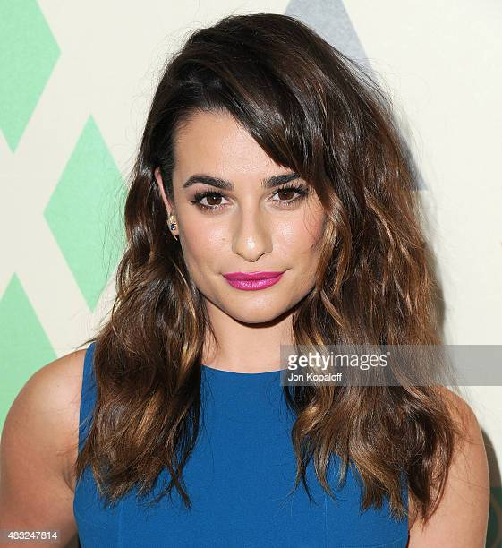 Actress Lea Michele arrives at the 2015 Summer TCA Tour FOX AllStar Party at Soho House on August 6 2015 in West Hollywood California