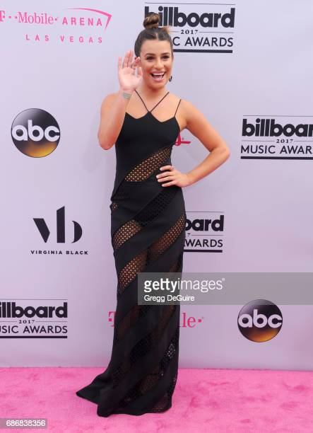 Actress Lea Michele arrives at the 2017 Billboard Music Awards at TMobile Arena on May 21 2017 in Las Vegas Nevada
