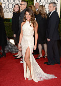 Actress Lea Michele arrives at the 70th Annual Golden Globe Awards held at The Beverly Hilton Hotel on January 13 2013 in Beverly Hills California