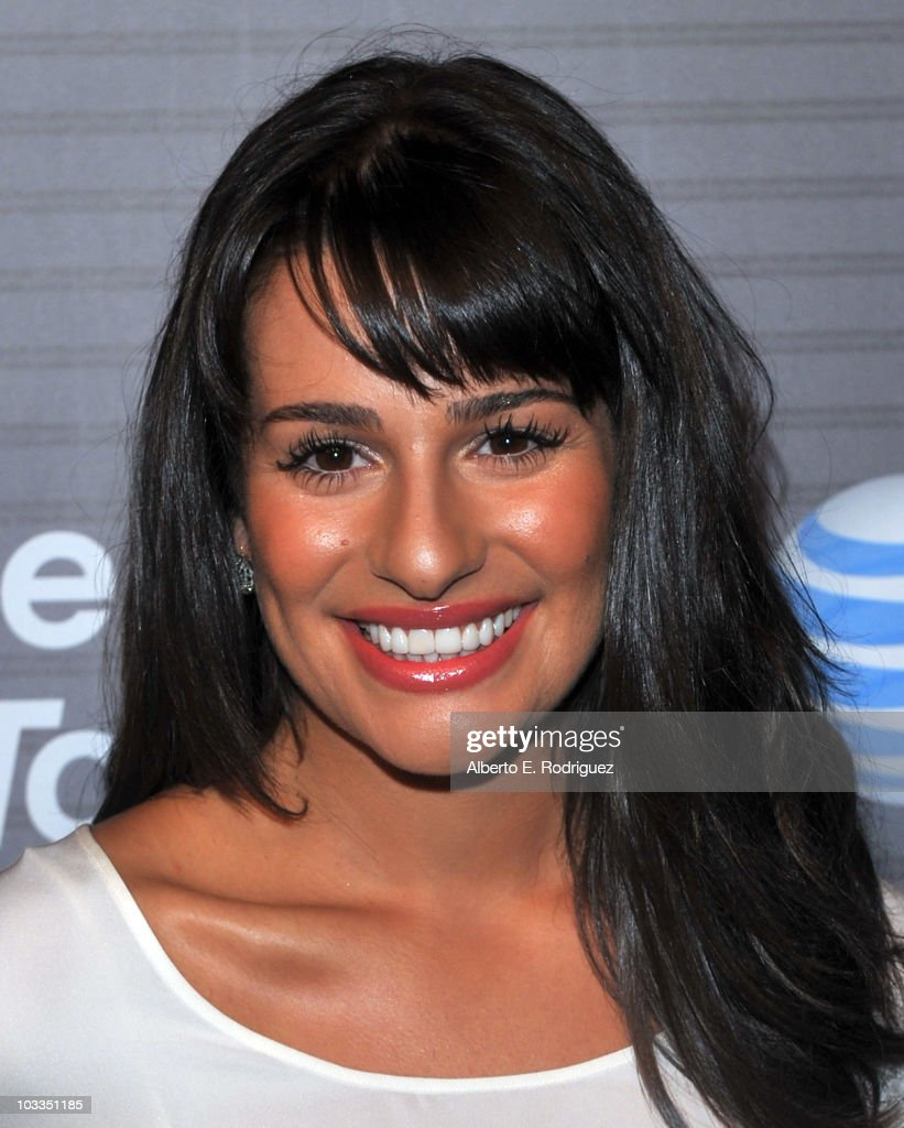 Actress Lea Michele arrives at the Blackberry Torch launch party on August 11 2010 in Los Angeles California