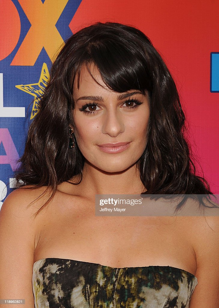 Actress Lea Michele arrives at the FOX 2010 Summer TCA All-Star Party at Pacific Park - Santa Monica Pier on August 2, 2010 in Santa Monica, California. at Pacific Park .