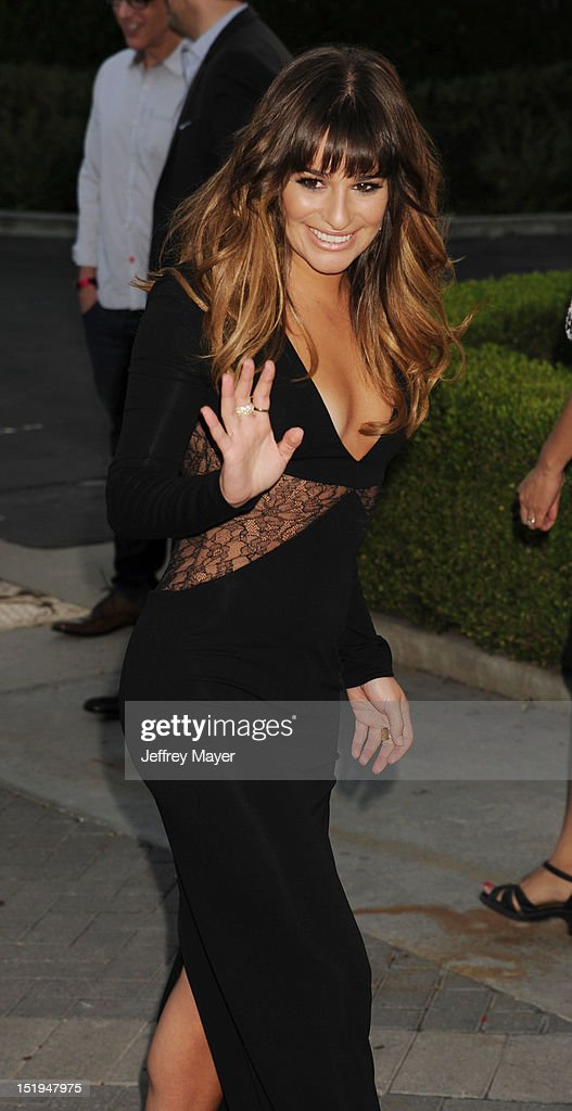 Actress <a gi-track='captionPersonalityLinkClicked' href=/galleries/search?phrase=Lea+Michele&family=editorial&specificpeople=566514 ng-click='$event.stopPropagation()'>Lea Michele</a> arrives at the 'GLEE' Premiere Screening And Reception at Paramount Studios on September 12, 2012 in Hollywood, California.