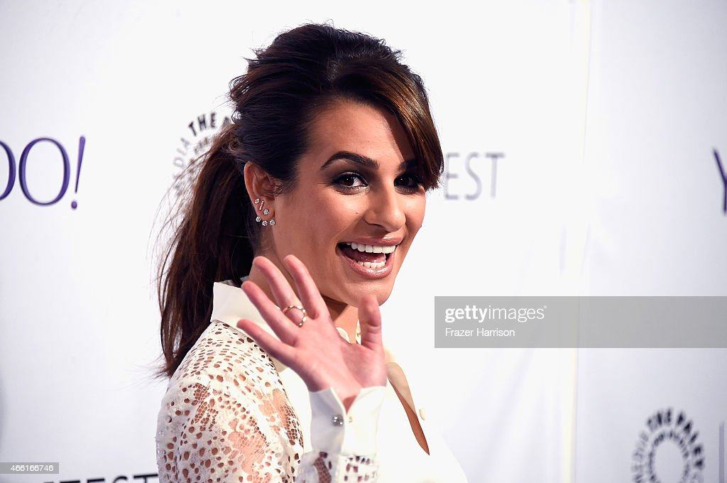 Actress Lea Michele arrives at The Paley Center For Media's 32nd Annual PALEYFEST LA 'Glee' at Dolby Theatre on March 13 2015 in Hollywood California