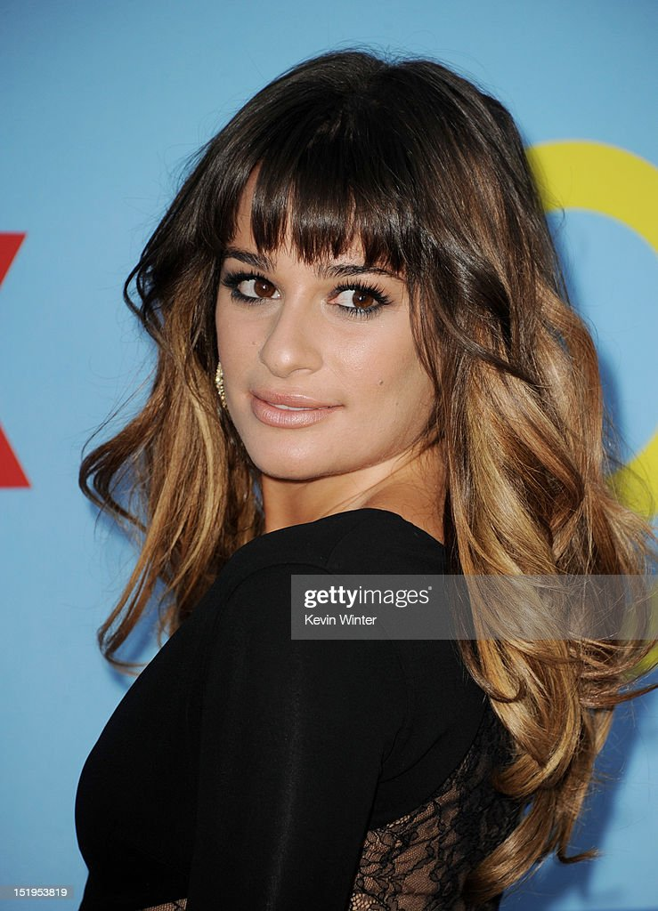 Actress <a gi-track='captionPersonalityLinkClicked' href=/galleries/search?phrase=Lea+Michele&family=editorial&specificpeople=566514 ng-click='$event.stopPropagation()'>Lea Michele</a> arrives at the premiere of Fox Television's 'Glee' at Paramount Studios on September 12, 2012 in Los Angeles, California.