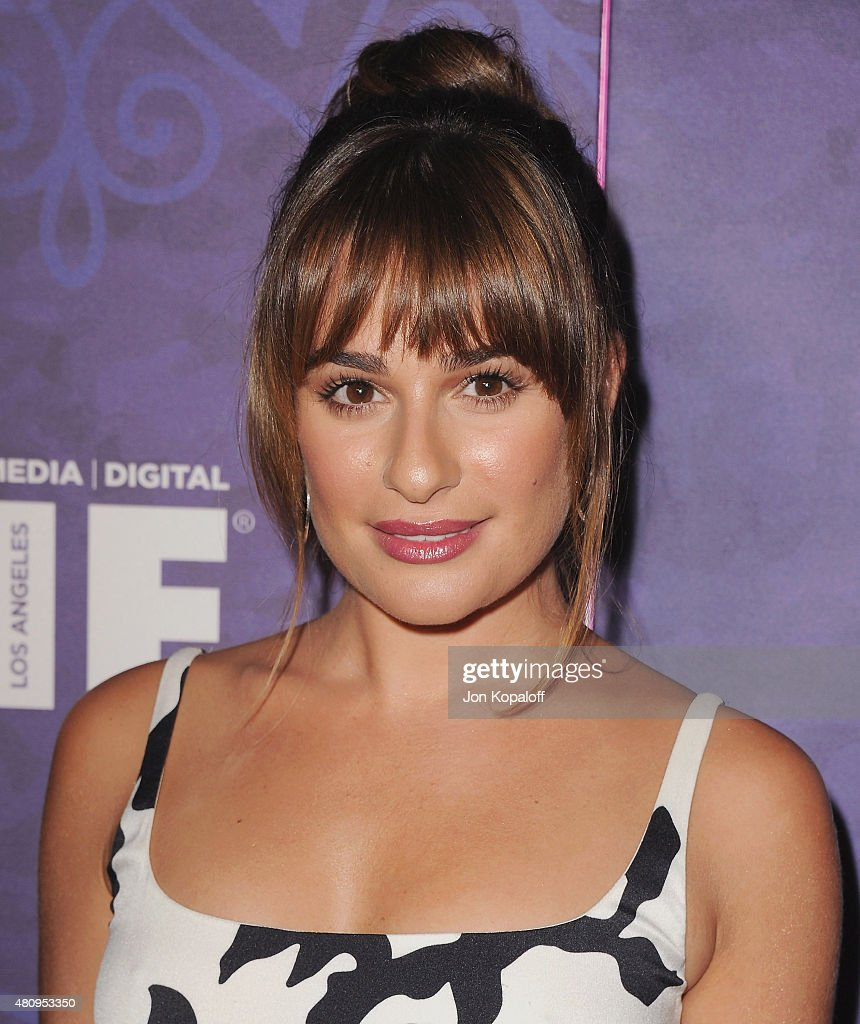 Actress <a gi-track='captionPersonalityLinkClicked' href=/galleries/search?phrase=Lea+Michele&family=editorial&specificpeople=566514 ng-click='$event.stopPropagation()'>Lea Michele</a> arrives at Variety And Women In Film Annual Pre-Emmy Celebration at Gracias Madre on August 23, 2014 in West Hollywood, California.