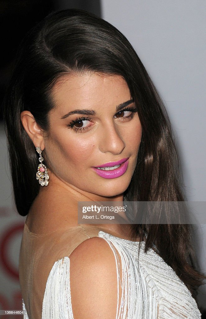 Actress <a gi-track='captionPersonalityLinkClicked' href=/galleries/search?phrase=Lea+Michele&family=editorial&specificpeople=566514 ng-click='$event.stopPropagation()'>Lea Michele</a> arrives for the 2012 People's Choice Awards held at Nokia Theatre L.A. Live on January 11, 2012 in Los Angeles, California.