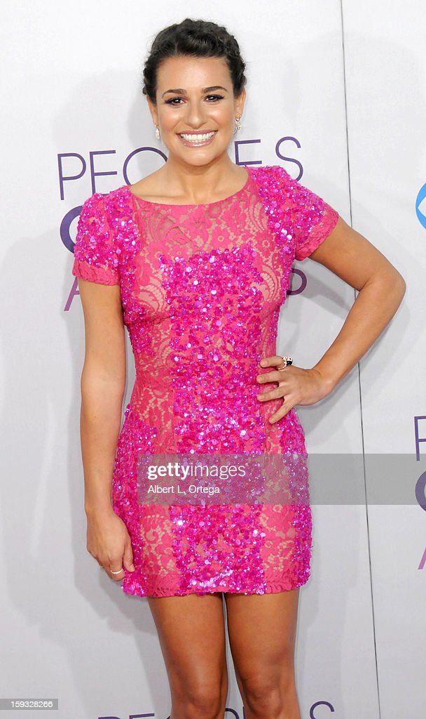 Actress Lea Michele arrives for the 34th Annual People's Choice Awards - Arrivals held at Nokia Theater at L.A. Live on January 9, 2013 in Los Angeles, California.