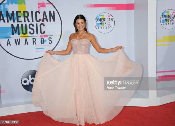 Actress Lea Michele attends 2017 American Music Awards at Microsoft Theater on November 19 2017 in Los Angeles California
