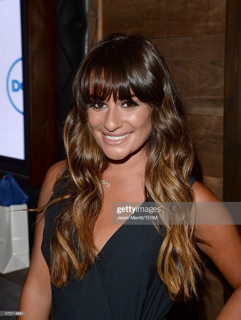Actress <a gi-track='captionPersonalityLinkClicked' href=/galleries/search?phrase=Lea+Michele&family=editorial&specificpeople=566514 ng-click='$event.stopPropagation()'>Lea Michele</a> attends a private event at Hyde Lounge hosted by Dell for the Beyonce concert at The Staples Center on July 1, 2013 in Los Angeles, California.