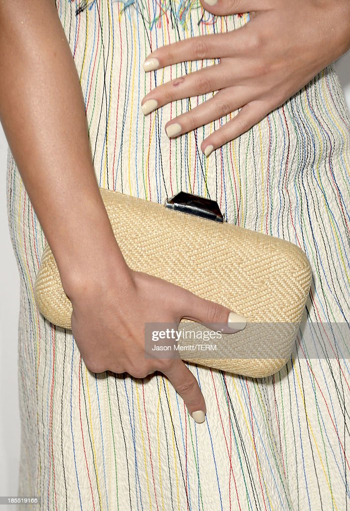 Actress Lea Michele (fashion detail) attends ELLE's 20th Annual Women In Hollywood Celebration at Four Seasons Hotel Los Angeles at Beverly Hills on October 21, 2013 in Beverly Hills, California.