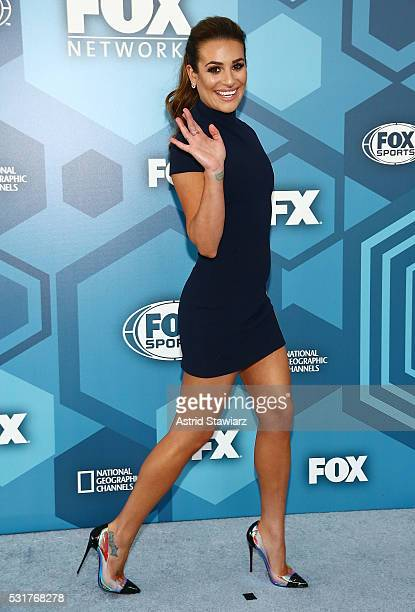 Actress Lea Michele attends FOX 2016 Upfront Arrivals at Wollman Rink Central Park on May 16 2016 in New York City