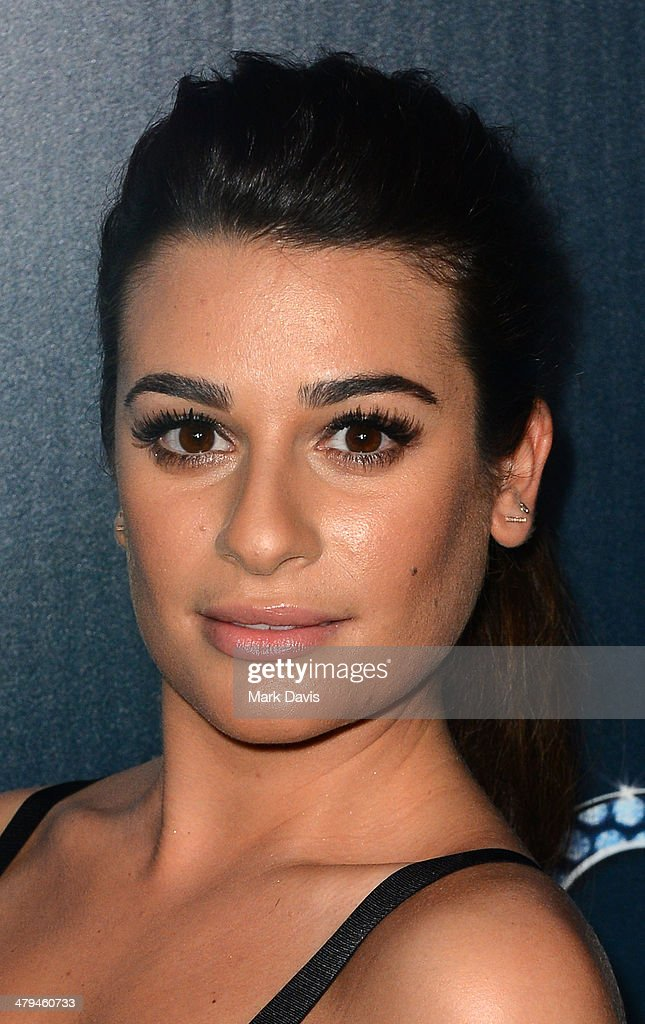 Actress <a gi-track='captionPersonalityLinkClicked' href=/galleries/search?phrase=Lea+Michele&family=editorial&specificpeople=566514 ng-click='$event.stopPropagation()'>Lea Michele</a> attends Fox's 'GLEE' 100th Episode Celebration held at Chateau Marmont on March 18, 2014 in Los Angeles, California.