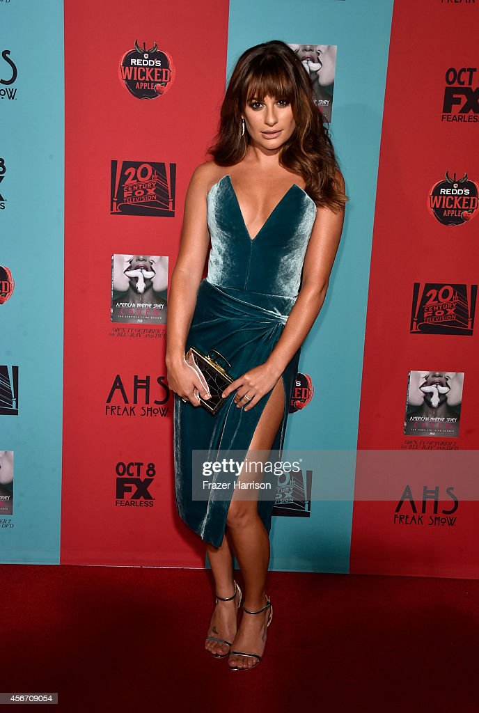 Actress Lea Michele attends FX's 'American Horror Story Freak Show' premiere screening at TCL Chinese Theatre on October 5 2014 in Hollywood...