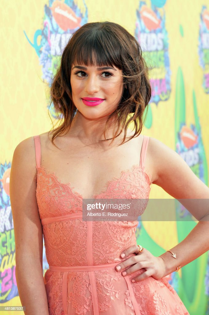 Actress <a gi-track='captionPersonalityLinkClicked' href=/galleries/search?phrase=Lea+Michele&family=editorial&specificpeople=566514 ng-click='$event.stopPropagation()'>Lea Michele</a> attends Nickelodeon's 27th Annual Kids' Choice Awards held at USC Galen Center on March 29, 2014 in Los Angeles, California.
