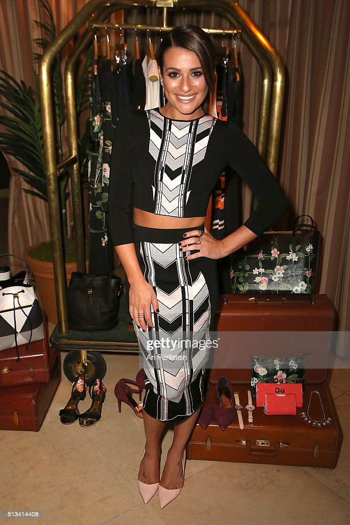 Actress Lea Michele attends Ted Baker London SS'16 Launch Event at Sunset Tower Hotel on March 2 2016 in West Hollywood California