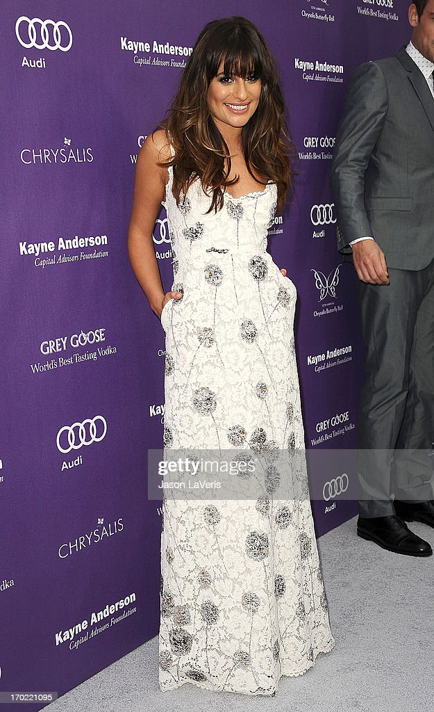 Actress <a gi-track='captionPersonalityLinkClicked' href=/galleries/search?phrase=Lea+Michele&family=editorial&specificpeople=566514 ng-click='$event.stopPropagation()'>Lea Michele</a> attends the 12th annual Chrysalis Butterfly Ball on June 8, 2013 in Los Angeles, California.
