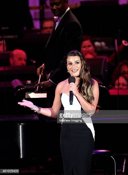 Actress Lea Michele attends the 15th Annual Hollywood Bowl Hall of Fame and Opening Night Concert on Saturday June 21 2014 at the Hollywood Bowl in...