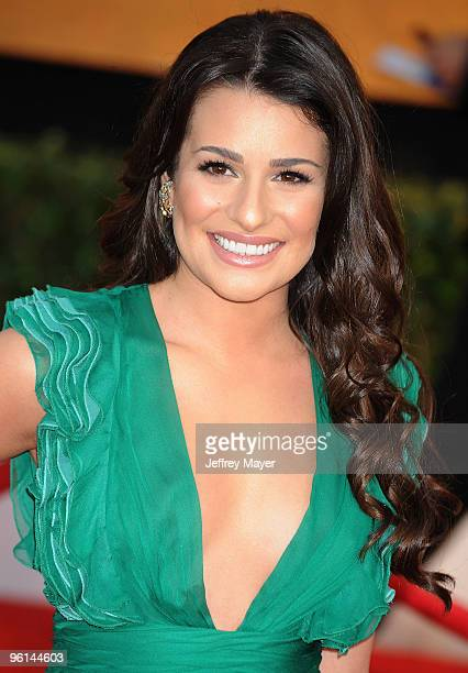 Actress Lea Michele attends the 16th Annual Screen Actors Guild Awards at The Shrine Auditorium on January 23 2010 in Los Angeles California