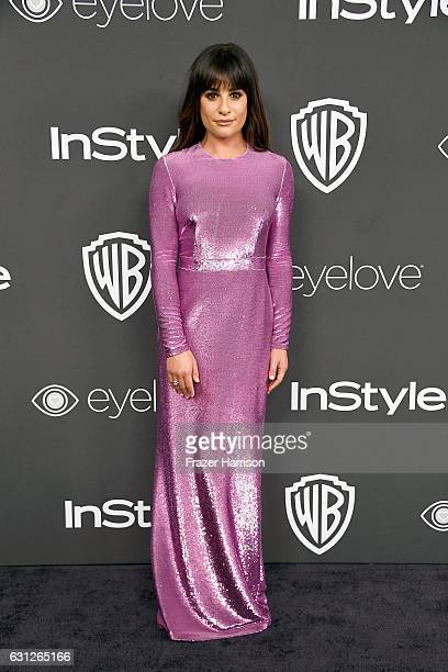 Actress Lea Michele attends the 18th Annual PostGolden Globes Party hosted by Warner Bros Pictures and InStyle at The Beverly Hilton Hotel on January...
