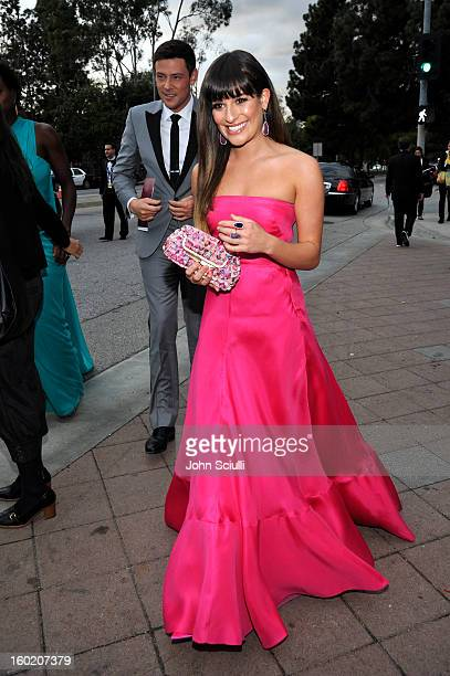 Actress Lea Michele attends the 19th Annual Screen Actors Guild Awards at The Shrine Auditorium on January 27 2013 in Los Angeles California...