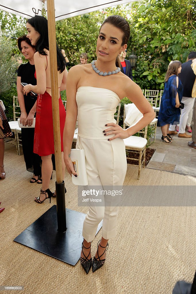 Actress <a gi-track='captionPersonalityLinkClicked' href=/galleries/search?phrase=Lea+Michele&family=editorial&specificpeople=566514 ng-click='$event.stopPropagation()'>Lea Michele</a> attends the 2013 CFDA/Vogue Fashion Fund Event Presented by thecorner.com and Supported by Audi, Living Proof, and MAC Cosmetics at the Chateau Marmont on October 23, 2013 in Los Angeles, California.