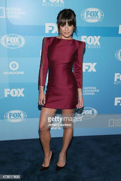 Actress Lea Michele attends the 2015 FOX programming presentation at Wollman Rink in Central Park on May 11 2015 in New York City