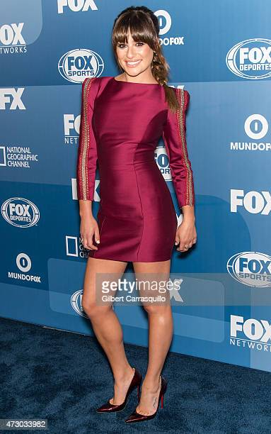 Actress Lea Michele attends the 2015 FOX Programming Presentation at Wollman Rink Central Park on May 11 2015 in New York City