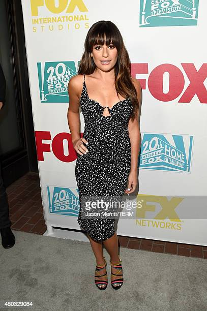 Actress Lea Michele attends the 20th Century Fox party during ComicCon International 2015 at Andaz Hotel on July 10 2015 in San Diego California
