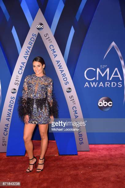 Actress Lea Michele attends the 51st annual CMA Awards at the Bridgestone Arena on November 8 2017 in Nashville Tennessee