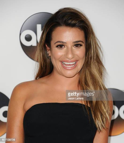 Actress Lea Michele attends the Disney ABC Television Group TCA summer press tour at The Beverly Hilton Hotel on August 6 2017 in Beverly Hills...