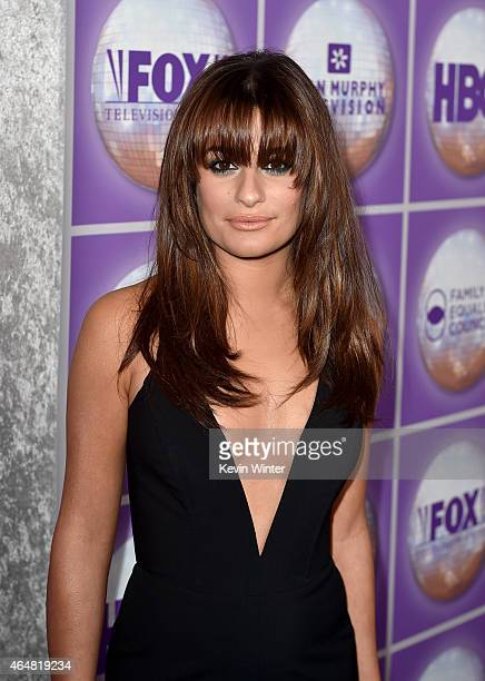 Actress Lea Michele attends the Family Equality Council's 2015 Los Angeles Awards dinner at The Beverly Hilton Hotel on February 28 2015 in Beverly...