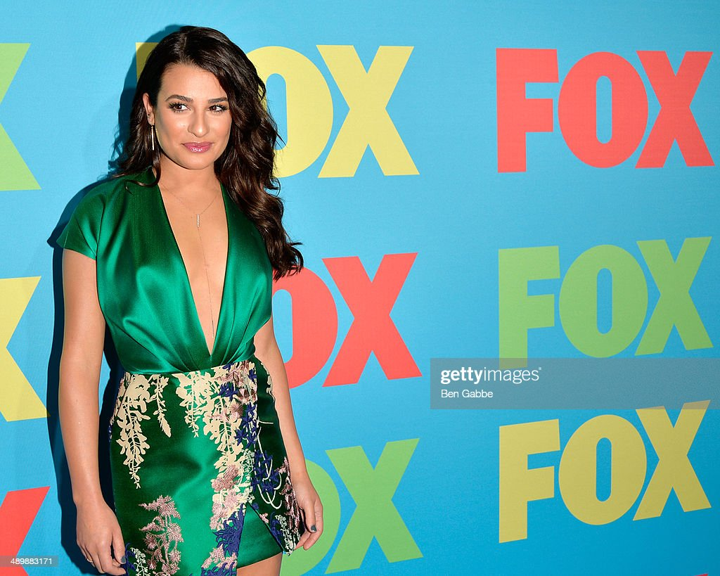 Actress Lea Michele attends the FOX 2014 Programming Presentation at the FOX Fanfront on May 12, 2014 in New York City.