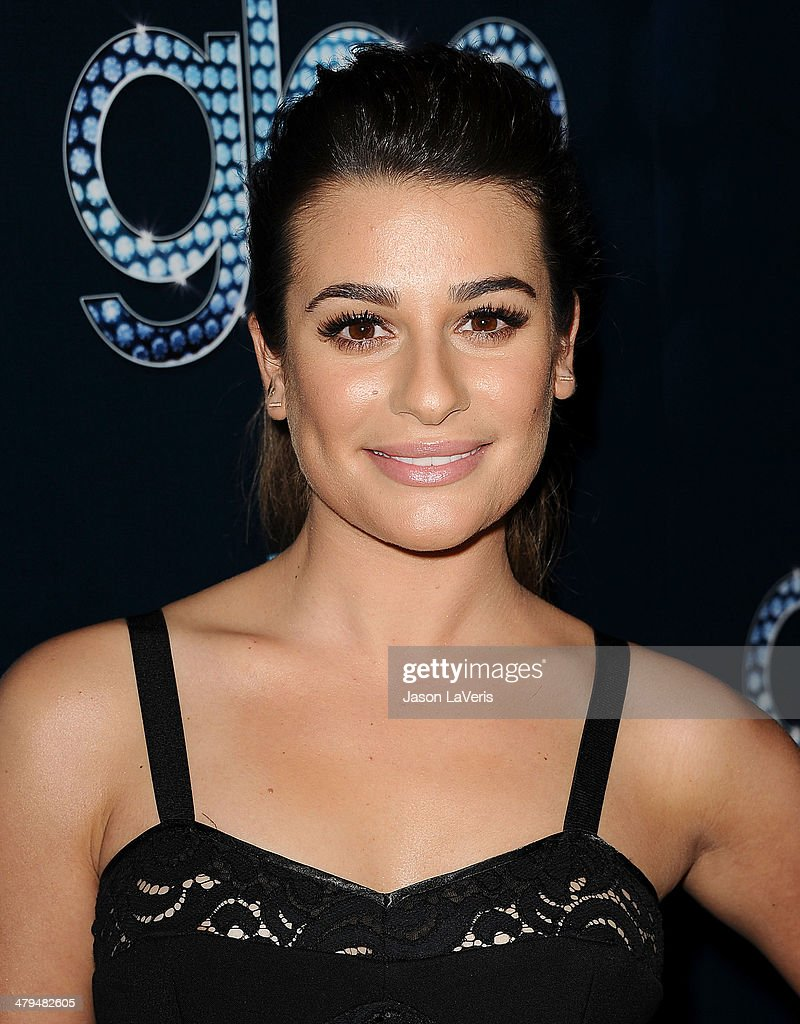 Actress <a gi-track='captionPersonalityLinkClicked' href=/galleries/search?phrase=Lea+Michele&family=editorial&specificpeople=566514 ng-click='$event.stopPropagation()'>Lea Michele</a> attends the 'Glee' 100th episode celebration at Chateau Marmont on March 18, 2014 in Los Angeles, California.