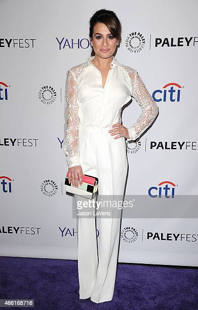 Actress Lea Michele attends the 'Glee' event at the 32nd annual PaleyFest at Dolby Theatre on March 13 2015 in Hollywood California