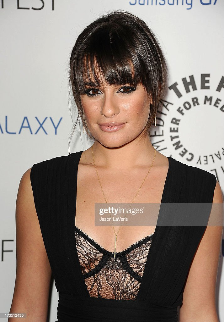 Actress <a gi-track='captionPersonalityLinkClicked' href=/galleries/search?phrase=Lea+Michele&family=editorial&specificpeople=566514 ng-click='$event.stopPropagation()'>Lea Michele</a> attends the PaleyFest Icon Award presentation at The Paley Center for Media on February 27, 2013 in Beverly Hills, California.