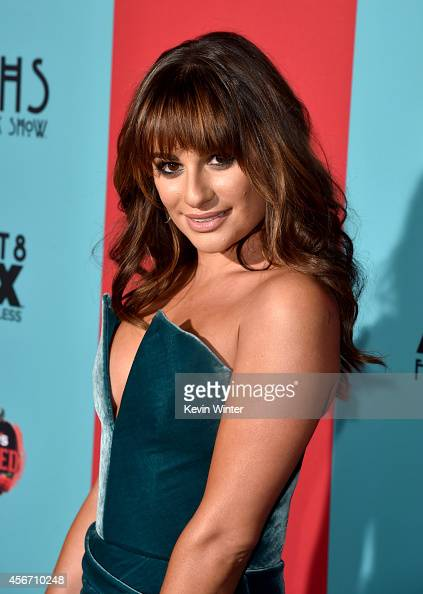 Actress Lea Michele attends the premiere screening of FX's 'American Horror Story Freak Show' at TCL Chinese Theatre on October 5 2014 in Hollywood...