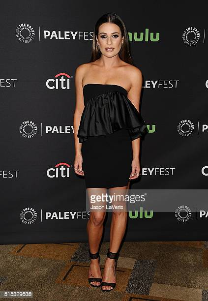 Actress Lea Michele attends the 'Scream Queens' event at the 33rd annual PaleyFest at Dolby Theatre on March 12 2016 in Hollywood California