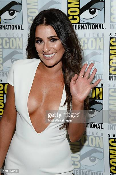 Actress Lea Michele attends the 'Scream Queens' press line during ComicCon International at Hilton Bayfront on July 22 2016 in San Diego California