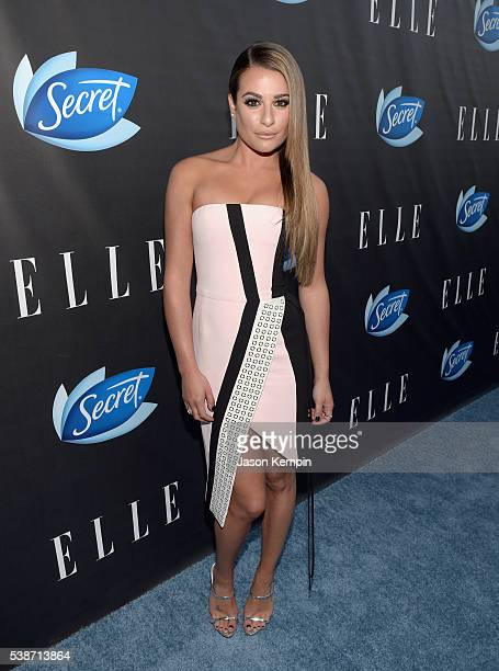 Actress Lea Michele attends the Women In Comedy event with July cover stars Leslie Jones Melissa McCarthy Kate McKinnon and Kristen Wiig hosted by...