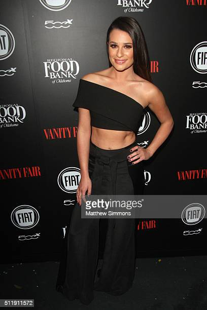 Actress Lea Michele attends Vanity Fair and FIAT Young Hollywood Celebration at Chateau Marmont on February 23 2016 in Los Angeles California