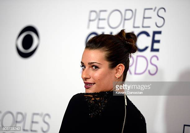 Actress Lea Michele backstage at People's Choice Awards on January 6 in Los Angeles California