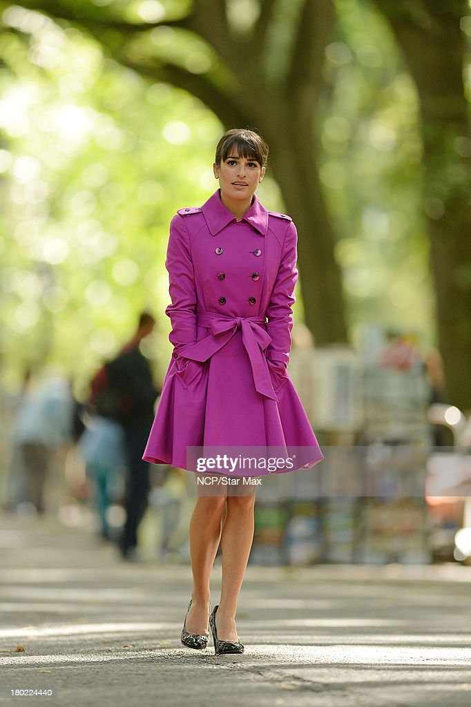 Actress Lea Michele is seen on September 9, 2013 in New York City.