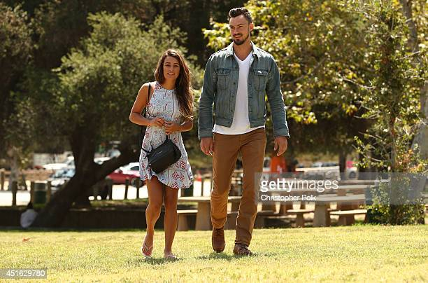 Actress Lea Michele is seen with Matthew Paetz on June 27 2014 in Los Angeles California