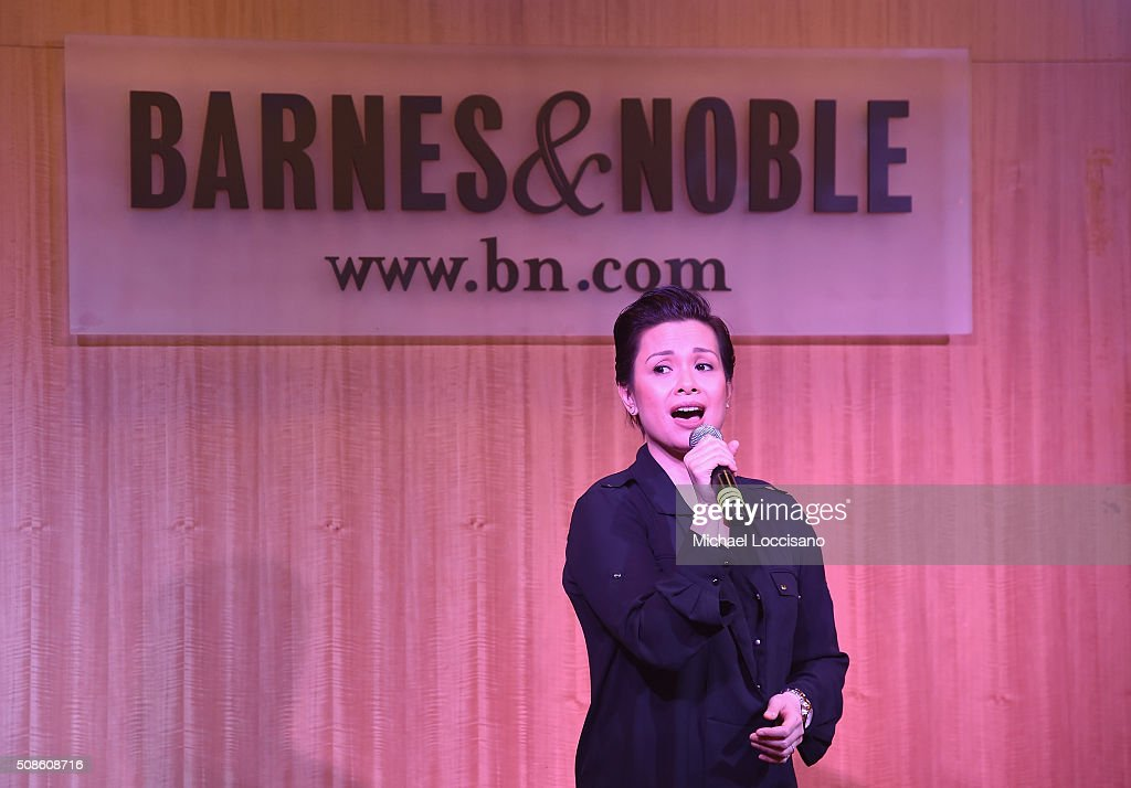 Actress <a gi-track='captionPersonalityLinkClicked' href=/galleries/search?phrase=Lea+Salonga&family=editorial&specificpeople=2179610 ng-click='$event.stopPropagation()'>Lea Salonga</a> promotes the original Broadway cast recording of 'Allegiance' at Barnes & Noble, 86th & Lexington on February 5, 2016 in New York City.