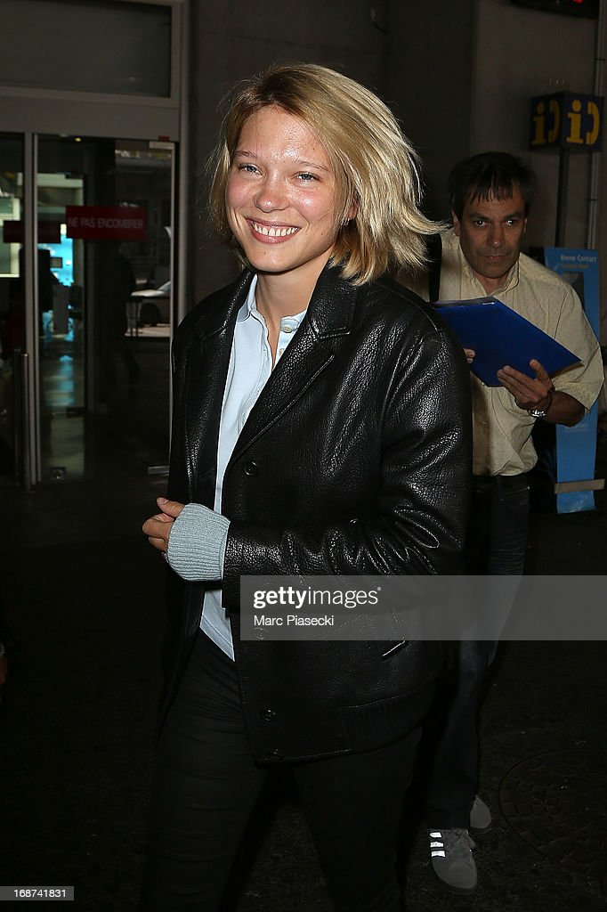 Actress Lea Seydoux arrives at Nice airport on May 14, 2013 in Nice, France.