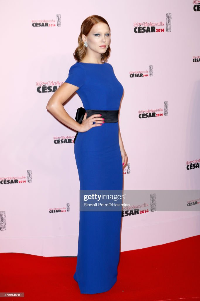Actress Lea Seydoux arrives for the 39th Cesar Film Awards 2014 at Theatre du Chatelet on February 28, 2014 in Paris, France.